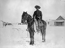 Buffalo Soldier in the 9th Cavalry Unit in 1890