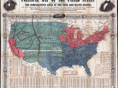 Reynold's map of free and slave states in the U.S. circa 1856