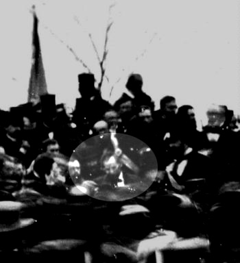 Only known photo of Abraham Lincoln at Gettysburg
