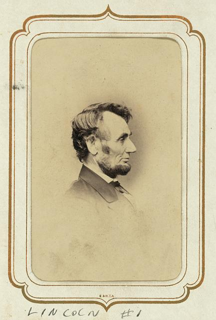 Abraham Lincoln photographed by Anthony Berger on February 9, 1864