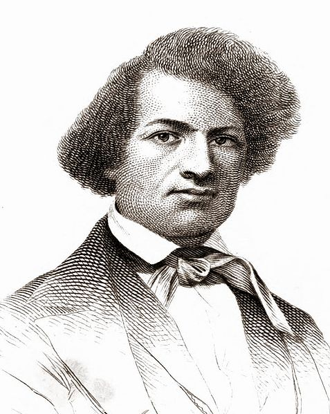 Illustration of Frederick Douglass from 1845