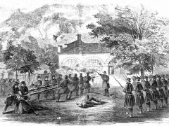 Harper's Weekly Illustration of John Brown's Raid, circa 1859