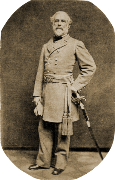 Robert E. Lee in uniform in 1863