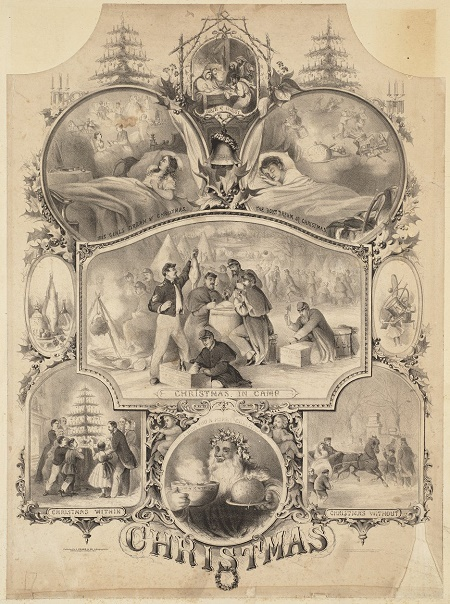 """Christmas"" engraving by Louis Prang & Company circa 1862"