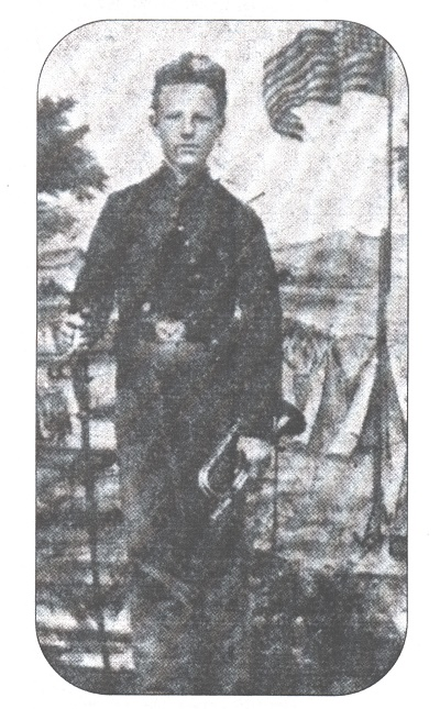 John Cook, a 15-year-old Union bugler who earned the Medal of Honor during the Battle of Antietam