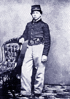Orion Perseus Howe, 14-year-old drummer boy and Medal of Honor recipient, circa 1863