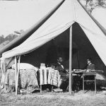 President Abraham Lincoln and Gen George B McClellan photographed at Antietam by Alexander Gardner on Oct 3 1862 - 350 x 247