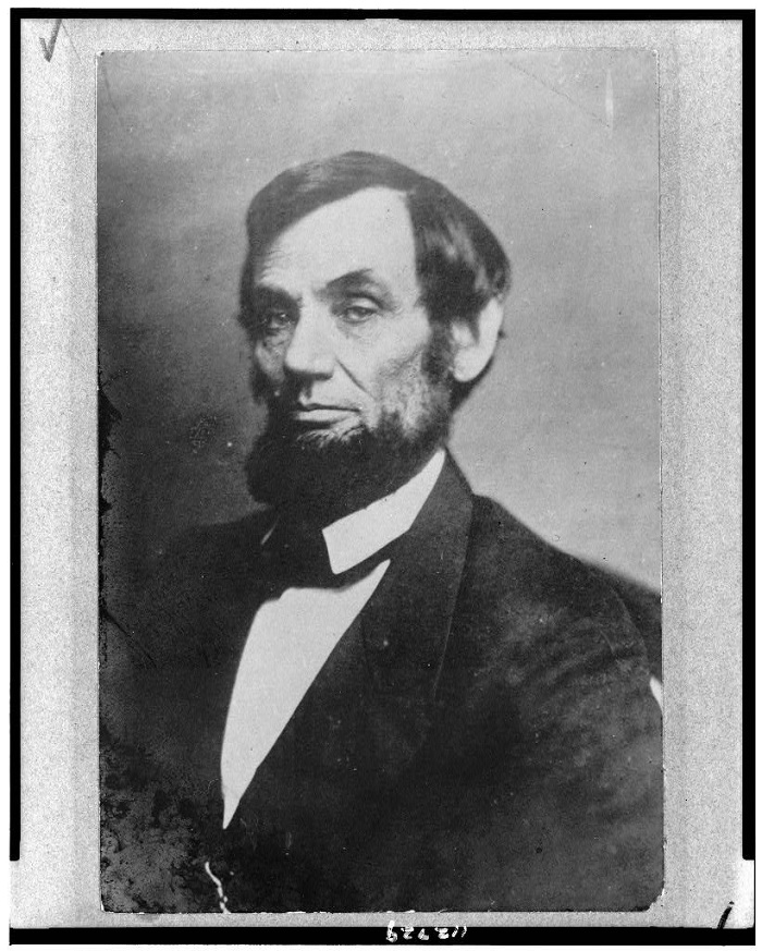 Abraham Lincoln, photographed by Mathew Brady, April 6, 1861