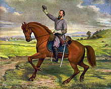 Painting of Stonewall Jackson's famous gesture