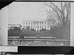 White House, photographed by Mathew Brady, circa 1861-1865