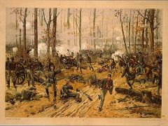 Chromolithograph of the Battle of Shiloh, circa 1888