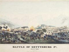 Illustration of the Battle of Gettysburg
