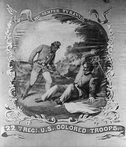 Banner for the 22nd U.S. Colored Troops