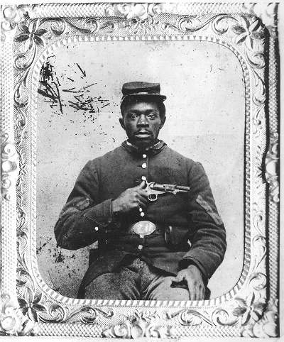 Nimrod Burke of the 23rd United States Colored Infantry Regiment