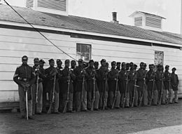 Company E, 4th United States Colored Infantry at Fort Lincoln on November 17, 1865