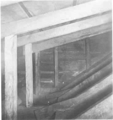 Secret room in the Van Lew mansion where Van Lew hid Unionists and escaped prisoners, circa 1890