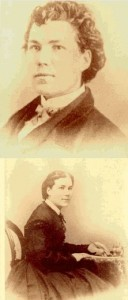 Sarah Emma Edmonds dressed as a male (top) and dressed as a woman (bottom)