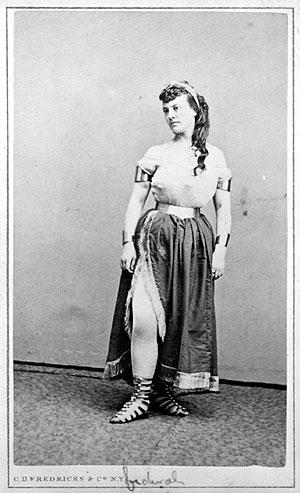 Pauline Cushman photographed by C.D. Fredericks & co