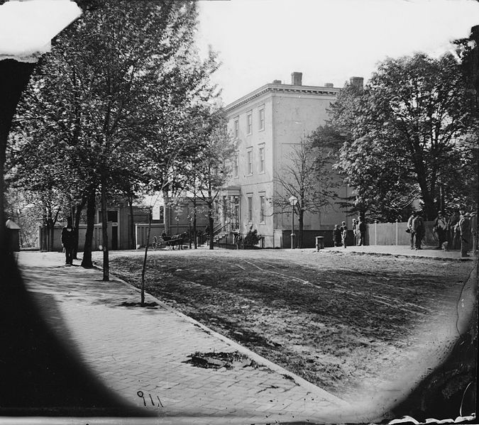 The Confederate White House at 1201 East Clay Street in Richmond, circa April 1865