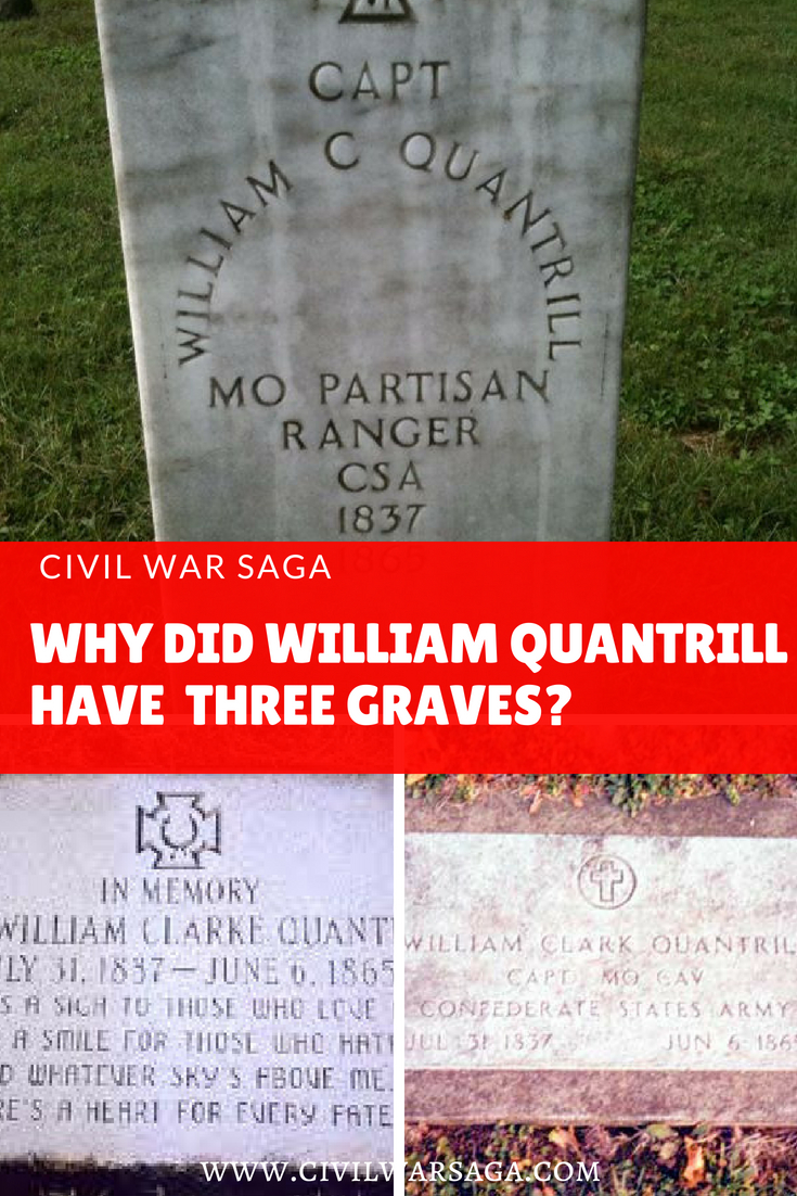 William Quantrill's Three Graves