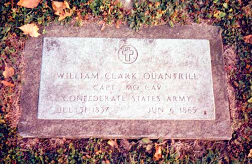 William Quantrill's grave in Dover, Ohio