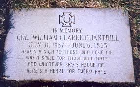 William Quantrill's grave in Higginsville, Missouri