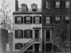 Mary Surratt's boarding house at 604 H St. NW Washington D.C. circa 1890 - 1910. Slater stayed here a number of times prior to Lincoln's assassination.