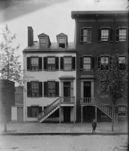 Mary Surratt boarding house at 604 H St NW Washington DC circa 1890 - 1910