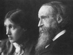 Sir Leslie Stephen and his daughter, Virginia Woolf, at the family's summer home in St. Ives in 1892