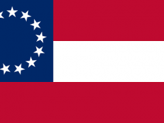The Stars and Bars, the First National Flag of the Confederate States of America, November 28, 1861 – May 1, 1863