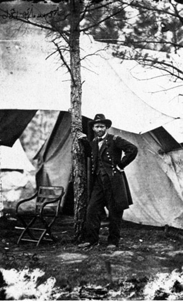 Ulysses S. Grant at Cold Harbor, Va in 1864