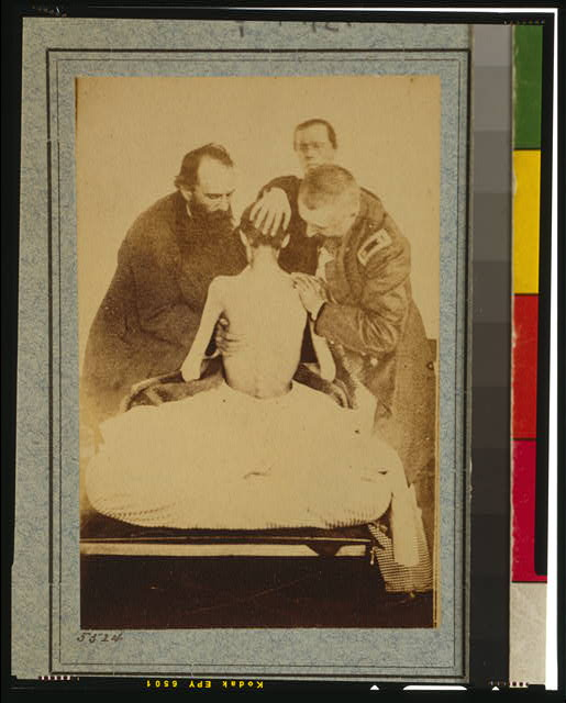 Civil War POW examined by doctors