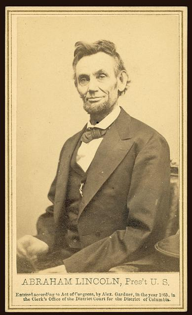 Abraham Lincoln photographed by Alexander Gardner on Feb 5, 1865