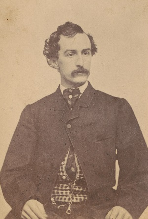 John Wilkes Booth photographed by Alexander Gardner in 1860