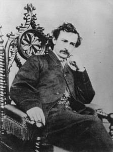 John Wilkes Booth photographed in a Boston studio (Date unknown)