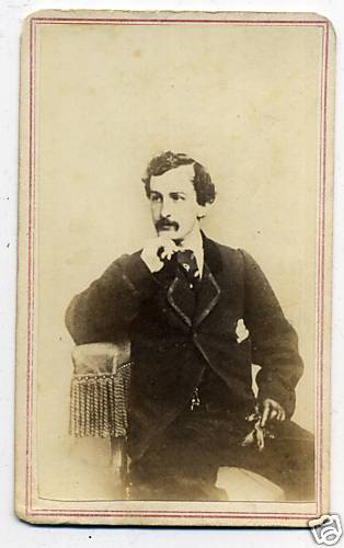 John Wilkes Booth photographed by Charles DeForest Fredricks circa 1862