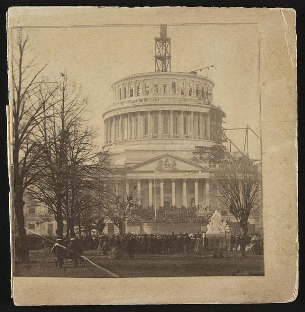 Abraham Lincoln's inauguration at the Capitol Building on March 4, 1861