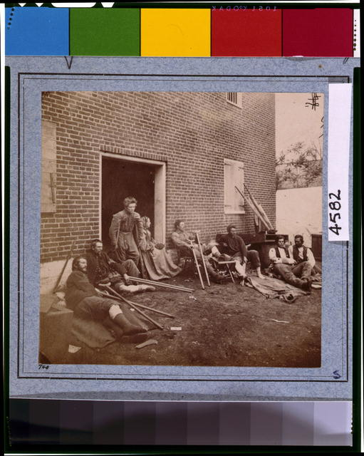 Wounder soldiers in Fredericksburg, Va photographed by James Gardner on May 20 1864