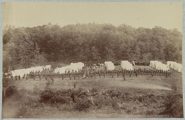 Dress parade of the 50th Penn. Infantry at Gettysburg, Pa., July, 1865