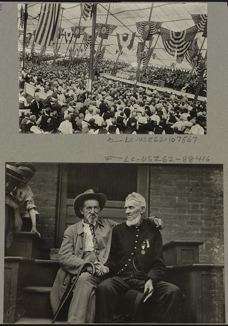 View of crowd inside assembly tent, Gettysburg celebration, Gettysburg, Pennsylvania in 1913