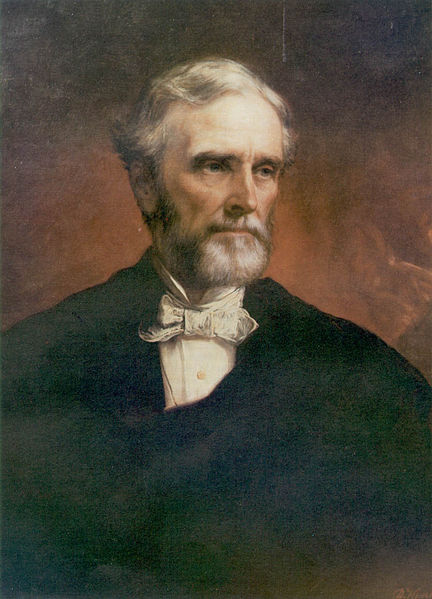 Jefferson Davis, oil painting, circa 1874