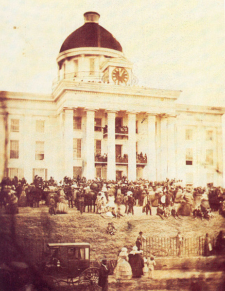Confederate President Jefferson Davis' Inauguration in 1861