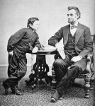 Abe Lincoln &amp; son Thomas in 1865