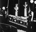 Abraham Lincoln, lying in state at NYC Hall, circa 1865