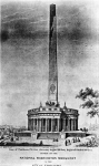 Illustration of the Washington Monument project by Robert Mills 