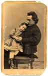 Edwin Booth with his daughter Edwina in 1864