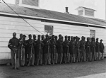 Company E of the 4th United States Colored Infantry at Fort Lincoln on Nov 17, 1865