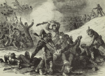 "Fort Pillow Massacre, ""Confederate massacre of Federal troops after surrender at Fort Pillow April 12 1864,"" published in Frank Leslie's Illustrated Weekly in 1894"