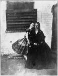 Rose O'Neal Greenhow, Confederate Spy, with daughter Rose in the Old Capital Prison, circa 1862