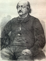 Illustration of Benjamin Butler in Harper\&#039;s Weekly circa 1861